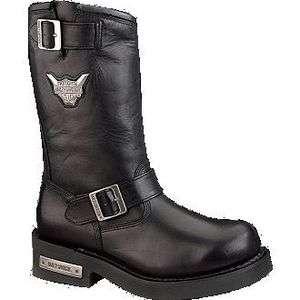 Mens Harley Davidson Mega Conductor Steel Toe Black Motorcycle Boots