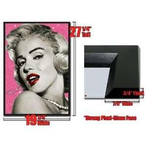 Framed Marilyn Monroe Red Lips Winking 18x26 3D Lenticular