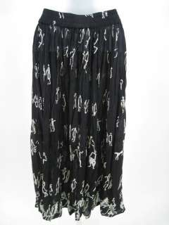 MIX NOUVEAU Black White Printed Pleated Skirt Sz Small