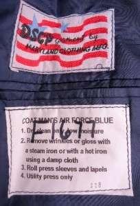 Size 39 Long US Air Force USAF Mens Enlisted Dress Blue Uniform Jacket