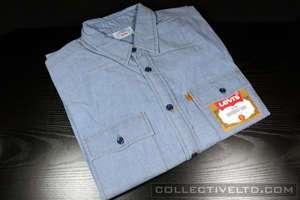 Levis Lightweight Chambray Work Shirt wtaps visvim BLUE Medium M