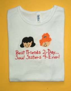 Personalized BFF BEST FRIENDS FOREVER Boy or Girl Shirt