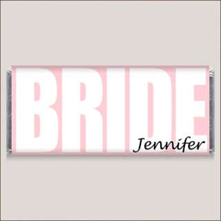 Bride & Groom Wedding Personalized Candy Wrapper Favors