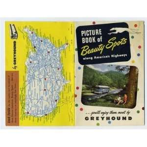 Greyhound Bus Lines Picture Book of Beauty Spots 1950s