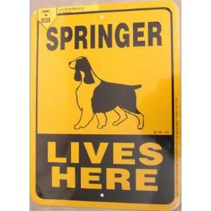 Springer Dog Lives Here Yard Sign