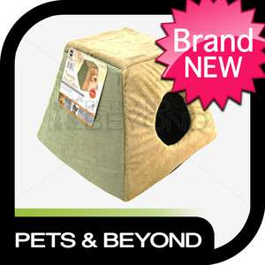 HEATED SMALL/LITTLE DOG CAT/PET THERMO KITTY CABIN BED SAGE 3073