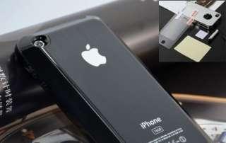 Black Aluminum Plastic Chrome Hard Cover Case Apple Iphone 3G 3GS