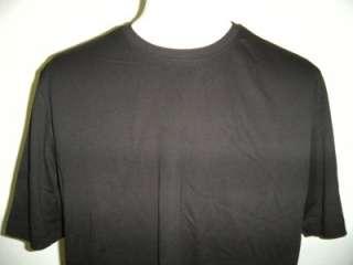NWT Kirkland Mens Premium Pima Cotton T Shirt Crew Neck BLACK Sz