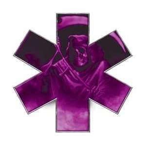 Grim Reaper Star of Life EMT EMS Purple 12 Reflective