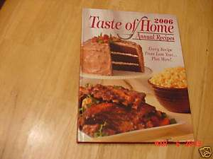 Taste of Home Annual Recipes 2006 Cookbook~320p