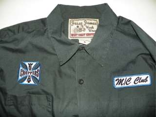 Jesse James West Coast Choppers 17.5 X 35 / 36 Embroidered Dress Shirt