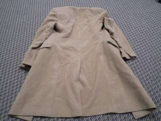 New Monarchy Mens Wool Trench Coat   Full Length With Fur Colla