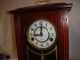 KASSEL 31 DAY WOOD TABLE CLOCK ~ CHIMING MANTEL RUNNING
