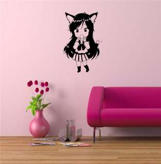 ANIME MANGA GIRL JAPANESE STYLE WALL VINYL STICKER DECAL ART MURAL