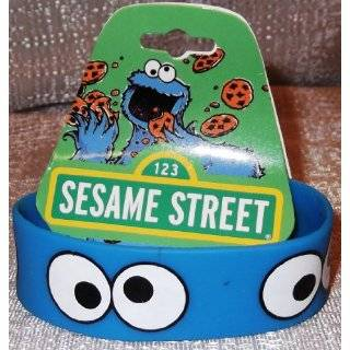 Sesame Street COOKIE MONSTER EYES Rubber Bracelet WRISTBAND by First