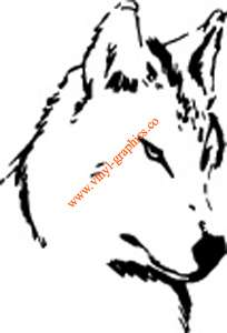 Wolf Face Animal Graphic Decal 331 Vinyl Stickers Color