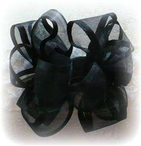 BLACK BABY TODDLER LITTLE GIRLS HAIR BOWS 2 PLAY OUTFIT DRESS WEDDING