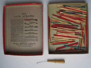 Antique Parlor Game ROYAL JACK STRAWS Milton Bradley No. 4095