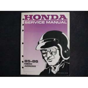 NB 50 Aero New Original Factory Service Manual Honda Motor Co. Books