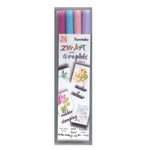 ZIG Art and Graphic Twin Marker 4 Piece Set Kind Hearted