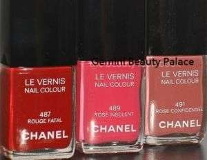Chanel Le Vernis Nail Polish 487 Rough Fatal 489 491