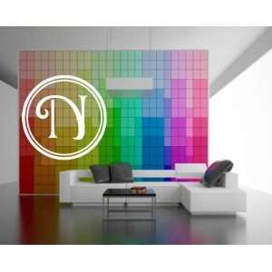 Letter N Monogram Letters Vinyl Wall Decal Sticker Mural Quotes Words