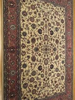 4x6Handmade Beautiful Wool & Silk Persian Isfahan Rug