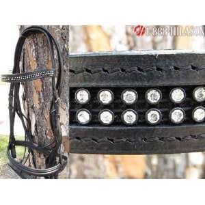 New English Bridle With Sparkling Crystals Rhinestones:
