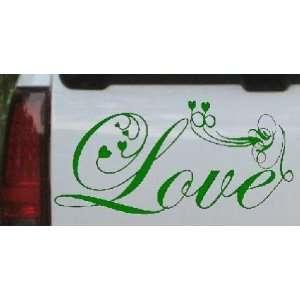 Dark Green 22in X 45.3in    Love Swirl With Hearts Christian Car