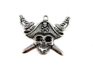 16pcs Findings Tibetan Silver Charm Pendant Pirates