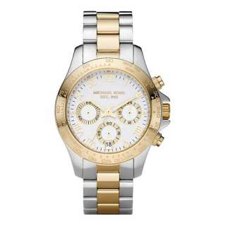 NEW* Michael Kors Womens Two tone Stainless Steel Chronograph Watch