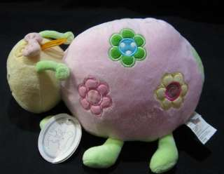 Lady Bug Pink 9 Plush Koala Baby Rattle Chime Flowers With Tags