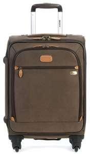 22 Expandable Spinner Carry On 4 Wheel Rolling Luggage Brown 6022 740