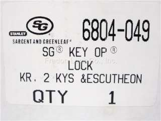 Greenleaf 6804 049 Safe Key Lock Replacement New OEM 6730 Footprint