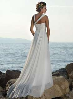 Stock White Wedding Prom Dress Formal Gown Size*6 8 10 12 14 16