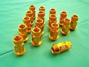 96 00 Honda Civic JDM SPORT GOLD extended racing Lug Nuts 12x1.5mm EK