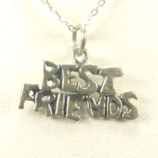 NEW BEST FRIENDS FOREVER 925 STERLING SILVER NECKLACE 16