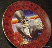 GRATEFUL DEAD JERRY GARCIA 24K GOLD PLATE ART skull 80s