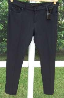 BCBG MAX AZRIA BLACK POLY DRESS KNIT SLIM SKINNY FITTED SLACKS PANTS