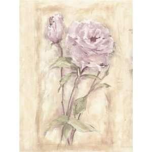 Wallpaper Border Gramercy Designer Lavender Purple & Pink Floral Rose