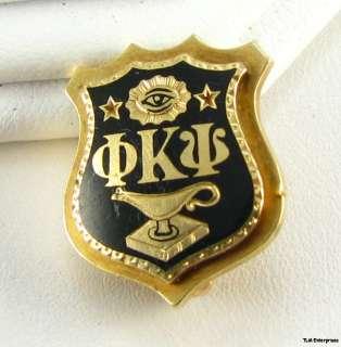 PHI KAPPA PSI fraternity 1922 Shield 14k Gold BADGE PIN