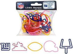 New York Giants NFL Logo Bandz Silly Bands 20p In Stock