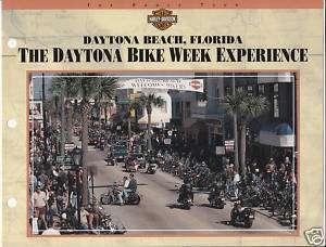 DAYTONA BIKE WEEK Harley Davidson Experience 8x11 SHEET