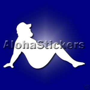 TRUCKER MUDFLAP FAT MAN Vinyl Decal Window Sticker F42