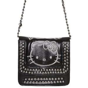 Hello Kitty Shoulder Bag Handbag Studs & Sequins Black
