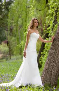Sexy Sweetheart White Wedding Dresses Bridal Gown Size Custom Free