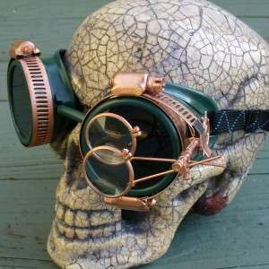 Steampunk Goggles Glasses cyber lens goth Victorian grc