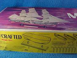 SCIENTIFIC CHARLES W MORGAN WOOD SHIP MODEL KIT NOS