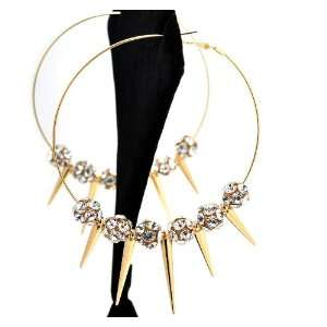 Gold Lady Gaga Paparazzi Basketball Wives Earring with 5