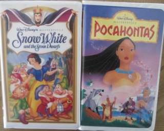 HUGE LOT 18 VHS Videos DISNEY PRINCESS CINDERELLA BELLE JASMINE